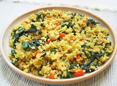 Quinoa Pilaf Recipe for Meatless Monday: Low fat, delicious, high protein, quick and easy to make.