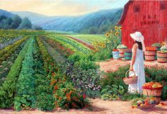 P & J Farms - June Dudley Fine Art Paintings and Prints