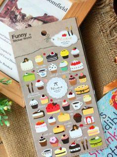 1pcs/lot  Creative Lace Cake series Paper Sticker/Dairy Decoration label/Scapbook Sticker/Phone sticker