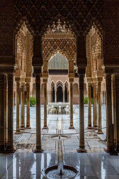 Spain, Andalucia, Granada, La Alhambra, Patio de los Leones (por Jesús Ruiz)