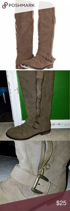 Gabriella Roche Boots These boots were only worn a few times, so they're in great condition! The color is described as Stone: It's a beige-green-gray color, very cute and goes with everything! Shoes