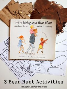 3 Crafts and Activities to do with We're Going on a Bear Hunt.