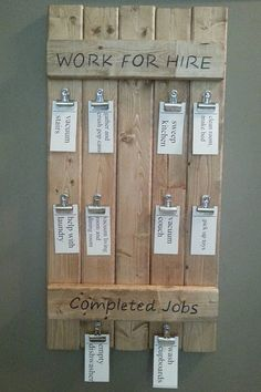 Hey, I found this really awesome Etsy listing at https://www.etsy.com/listing/248769635/wooden-work-for-hire-board-wood-chore