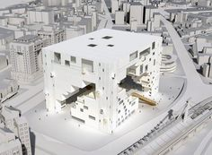 Gallery of Taipei Performing Arts Center proposal by NL Architects 6 is part of architecture - Image 6 of 12 from gallery of Taipei Performing Arts Center proposal by NL Architects Conceptual Model Architecture, Architecture Images, Futuristic Architecture, Museum Architecture, Taipei, Co Housing, Cube Design, Scenic Design, Modern Buildings