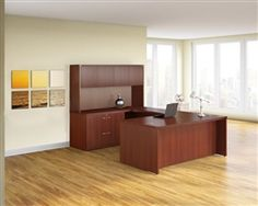 Purchase laminate executive desks including the Mayline Aberdeen series desk configuration today at Office Furniture Deals. Our selection of executive furniture configurations is simply unmatched. Furniture Deals, Office Furniture, Executive Office Desk, Office Desks, Aberdeen, Home Office Design, Transitional Style, Little Houses, Office Interiors