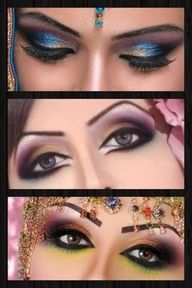 make up hindu | hindu make up | maquillaje para ojos - eye make up | Pinterest