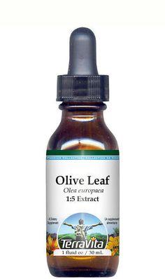 Olive Leaf Glycerite Liquid Extract (1:5) No Flavor