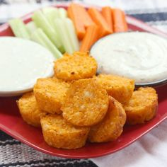 Buffalo Cauli-Tots - combine two comfort food favorites into a healthy veggie side!