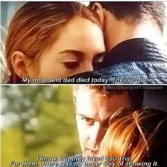 Tris felt like the only way to show Caleb that she loves him was to die for him just like her parents died for her