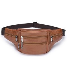 Genuine Leather Fanny Pack Waist Bag Small Leather Bag, Leather Fanny Pack, Leather Belt Bag, Macbook Bag, Orange Bag, Purses And Bags, Fashion Accessories, Pairs, Handbags