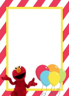 Printable Elmo Birthday Party Invitation