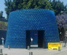 El pabellón I-Cono, resultado del Concurso Arquine No.20 se construyó en el marco de MEXTRÓPOLI 2018 en la Alameda Central de la Ciudad de México, un gran cono construido a partir de garrafones de plástico azul de 20 litros, y con una entrada trapezoidal de madera negra que invita a entrar a un amplio espacio interior que se abre al cielo.Se necesitaron 2,500 garrafones,tiene un diámetro de 10 metros y 6.5 metros de altura otorgando una apertura circular de 7 metros en la parte más alta.