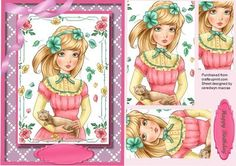 Lovely Animal loving Girl  on Craftsuprint designed by Ceredwyn Macrae - A lovely card to make and give to anyone on there birthday Lovely Animal loving girl a lovely card has one greeting tag and a blank one for you to choose the sentiment,  - Now available for download!