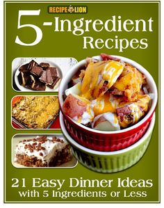 5 Ingredient Recipes, this is perfect for family dinners where you don't want to spend a fortune.