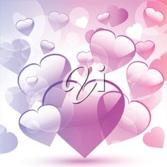 iCLIPART - Clip Art Illustration of a Valentine's Day Heart Background
