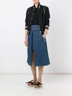 Sacai джинсовая юбка
