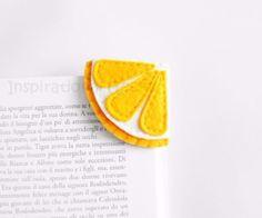 Feltro - Limone segnalibro ad angolo in feltro - un prodotto unico di InspirationalGecko su DaWanda