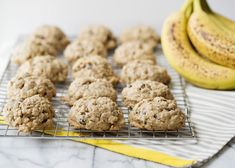 Banana Oat Breakfast Cookies - Baked Bree -- I'd leave out the chocolate. Oatmeal Breakfast Cookies, Breakfast Cookie Recipe, Banana Oatmeal Cookies, Breakfast Biscuits, Cookie Recipes, Oat Cookies, Peanut Butter Banana Oats, Peanut Butter Chips, Banana Nut