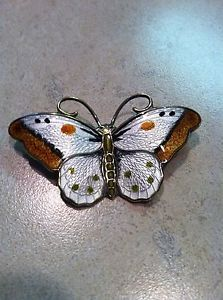 Vintage Hroar Prydz Sterling Silver Norway Modernist Enamel Butterfly Pin Brooch Butterfly Pin, Enamel Jewelry, Jewellery, Insect Jewelry, Modern Colors, Brooch Pin, Norway, Scandinavian, Sterling Silver