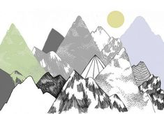 art, illustration, mountain