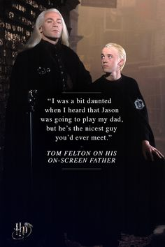 Tom Felton on his on-screen father