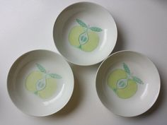 Trio of Pomona Apple soup bowls
