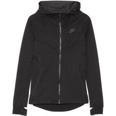 Nike - Tech Fleece Cotton-blend Jersey Hooded Top - Black - x small f61c419cdb38d