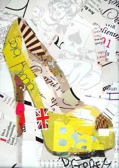 Papéis, revistas, rótulos e jornais são os materiais que compõem o trabalho do artista Derek Gores, que, em suas colagens, contrasta a beleza presente nas imagens recortadas com a concepção mecânica e abstrata do design.