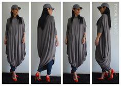 Tunic Dress/Raglan Tunic /ASYMMETRIC viscose Top /Grey Long kaftan / GreyTunic top / maxi top / Grey long tunic by ClothesByLockerRoom on Etsy https://www.etsy.com/uk/listing/224025773/tunic-dressraglan-tunic-asymmetric
