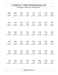 math worksheet : multiplication worksheets worksheets and multiplication on pinterest : Multiplication Algorithm Worksheets