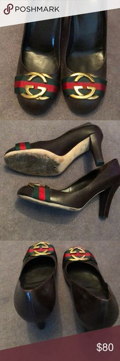 4e3633da017 Shop Women s Gucci Brown size 9 Heels at a discounted price at Poshmark.