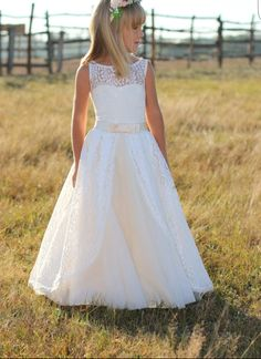 Beautiful Flower Girl Dresses, First Communion Dresses, Birthday Dresses, Party Dress, COT 002