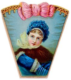 *The Graphics Fairy LLC*: Vintage Clip Art - Victorian Lady in Winter