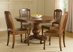 Round Dining Sets bordeaux round dining room 7-piece set: round dining table, 4 side