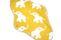 Elephant cloth pads 2pcs with bamboo night menstrual by leonorafi