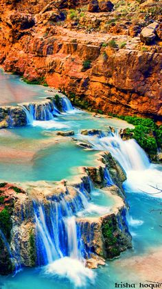 Nature paints the most beautiful masterpieces: Cascading waterfalls