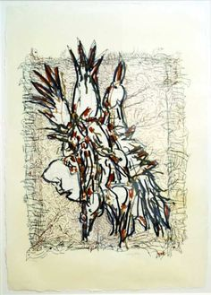 Jean Paul Riopelle, Cap Tourmente (C), Lithographie, x Modern Art, Contemporary Art, Joan Mitchell, Montreal, Rooster, Moose Art, Cap, Inspiration, Canadian Artists