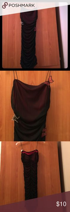 Cottura small black/red butterfly 🦋 LBD Cottura black/red butterfly 🦋 little black dress 👗 Size small Cottura Dresses