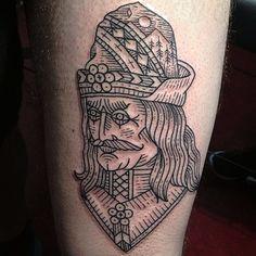 Susanne König - Vlad the Impaler Tattoo....I want him tattooed!!