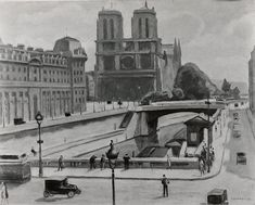 Samuel Halpert (American, 1884–1930). Notre Dame, Paris, 1925. The Metropolitan Museum of Art, New York. Anonymous Gift, 1938 (38.34) #paris