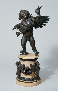 Boy and Duck - Frederick William MacMonnies  (American, New York 1863–1937 New York) Date: 1895–96, cast 1901 Medium: Bronze Dimensions: 29 3/4 x 23 1/2 x 13 3/4 in. (75.6 x 59.7 x 34.9 cm) Classification: Sculpture Credit Line: Rogers Fund, 1922