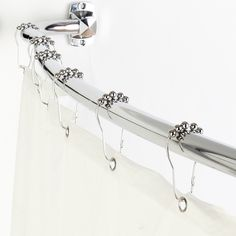 Chrome 3 In 1 Chrome Adjustable Curved Shower Rod Value Pack Elegant Home Fashions Curtain