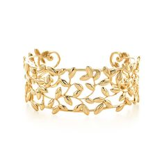 Paloma Picasso® Olive Leaf Cuff - LOVE THIS!!!! Inspired by the olive branch, a symbol of peace and abundance. Narrow cuff in 18k gold. Size medium. Original designs copyrighted by Paloma Picasso. Tiffany & Co. $6,500.00