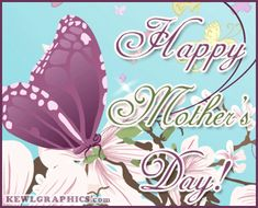 Purple Butterfly Happy Mothers Day Graphic plus many other high quality Graphics for your Facebook profile at KewlGraphics.com.