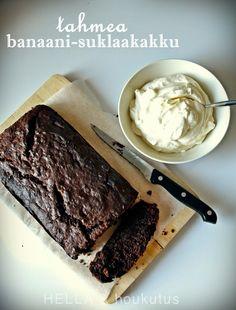 Hella & houkutus: Tahmea suklaa-banaanikakku