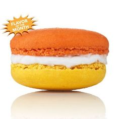 Dana's Bakery macaron flavor of the month: can you guess? Yep, Candy Corn.