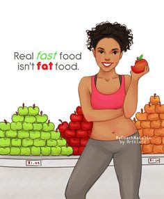 Real fast food isn't fat food: SO TRUE!! It only takes a second to pick up an apple and eat it! Waiting in a drive-thru takes SO LONG compared to that!