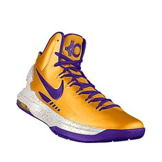 """KD V iD """"Showtime Golds"""". I designed this @ NIKEiD. Inspired by the LA's """"Showtime"""" squad. $150"""