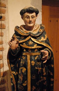 This wooden figure of a saint is part of the collection of the Santo Domingo Museum in Oaxaca City Mexico