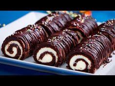 Legpuhább és könnyedebb csokoládés tekercs  Ízletes TV - YouTube Chocolate, Kolaci I Torte, Doughnut, A Table, Bakery, Brunch, Food And Drink, Sweets, Tv